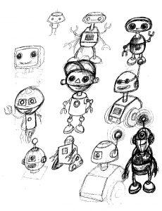 Edgar and cecil sketch robots 1