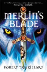 Merlin's Blade, by Robert Treskillard (Merlin Spiral series, book 1). Zondervan Blink, 2013, 432 pp., for ages 13-up