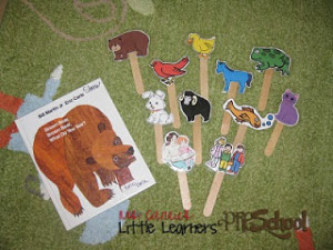 brown bear popsicle puppets