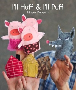 huff and puff finger puppets