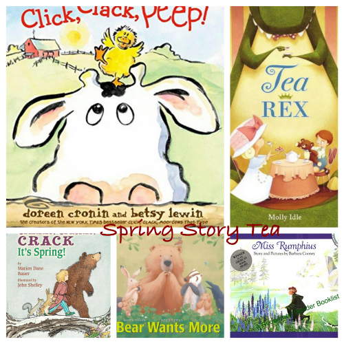 spring story tea ducklings bunnies and tea with dinosaurs
