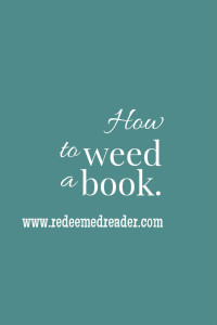 how to weed a book