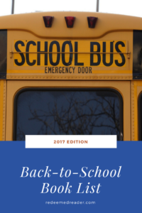 Back-to-School Booklist, 2017 edition (+ Giveaway!)