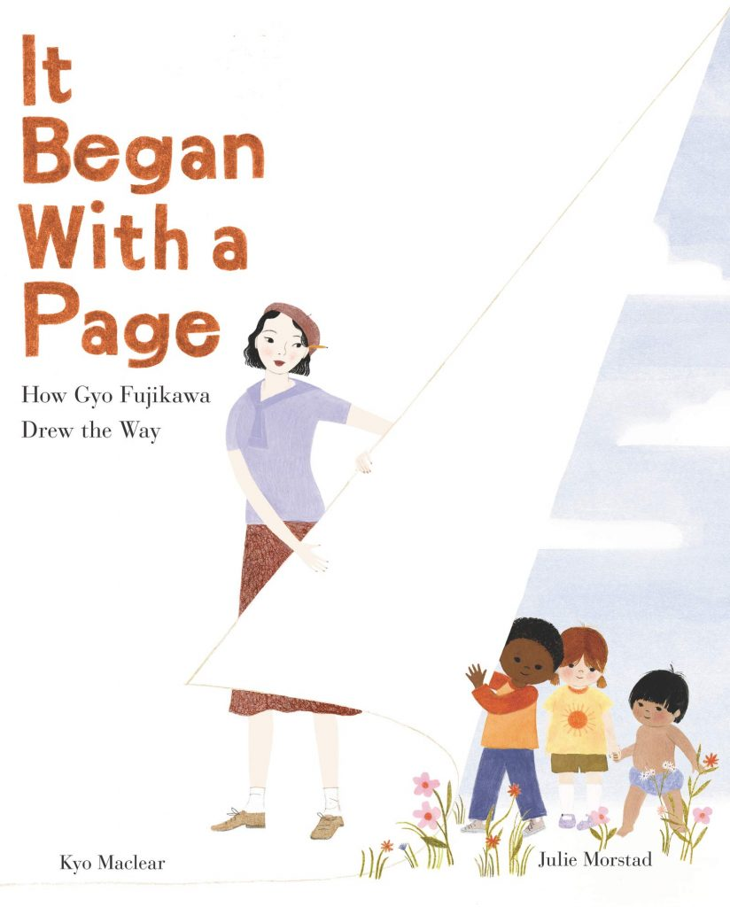 cover image of it began with a page about gyo fujikawa