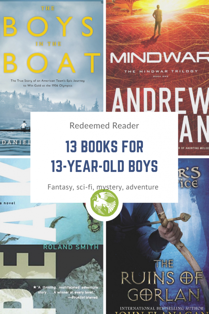 13 books for 13 year old boys