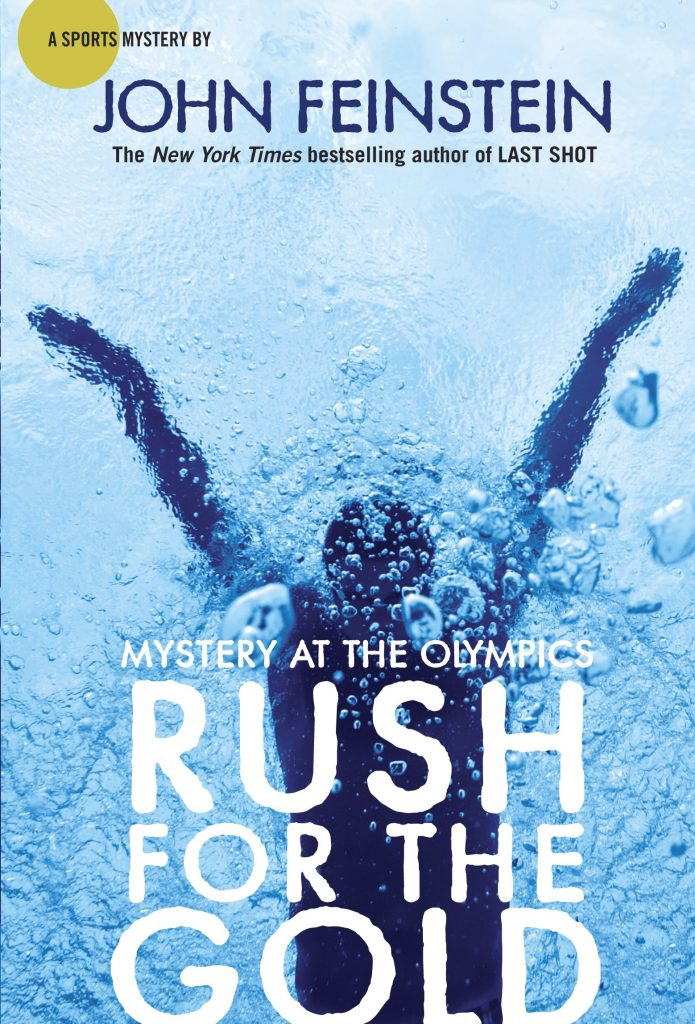 cover of rush for the gold of the sports beat mysteries